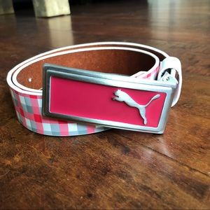 Puma golf belt, hot pink